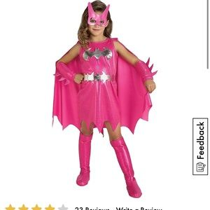 Hot pink and silver Batgirl Halloween costume